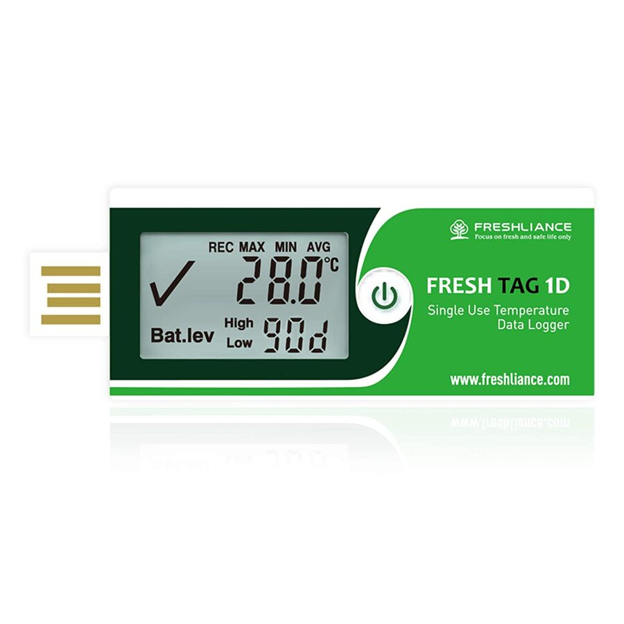 Temperature Data Logger LCD Single Use with PDF Report 7Days